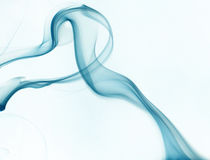 Blue smoke on white background. Abstract Royalty Free Stock Photography