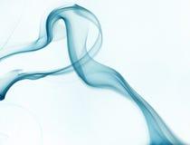 Blue smoke on white background Royalty Free Stock Photography