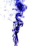 Blue smoke on white background Royalty Free Stock Photos