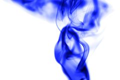 Blue smoke on white background. Photo of an abstract texture Stock Images