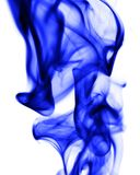 Blue smoke on white background. Photo of an abstract texture Royalty Free Stock Photos