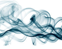 Blue smoke on white background Stock Photography