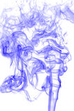 Blue smoke on white background, texture abstract Royalty Free Stock Image