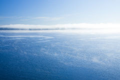 Blue Smokey Sea Stock Images