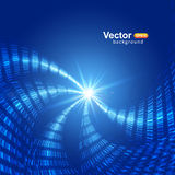 Blue smooth light lines. Vector background Royalty Free Stock Photography