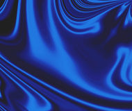 Blue Smooth Satin Background Stock Image