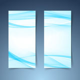 Blue smooth swoosh line border banner layout.jpg Stock Image