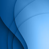 Blue  smooth twist light lines background. Stock Images