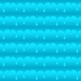 Blue smooth water drops seamless vector texture or pattern Royalty Free Stock Photography