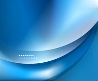 Blue smooth wave template Royalty Free Stock Images