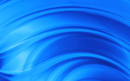 Blue smoothed waves Stock Image