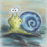 Blue snail cartoon Stock Photo