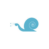 Blue snail Royalty Free Stock Image
