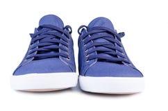 Blue sneackers Royalty Free Stock Photos