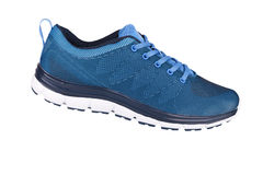 Blue sneaker Royalty Free Stock Images