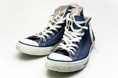 Blue sneakers Stock Photo