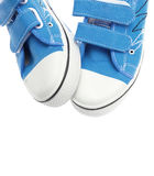 Blue sneakers isolated on white Royalty Free Stock Images