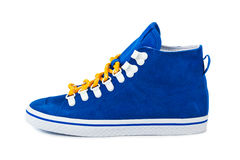 Blue sneakers. Isolated on white background Royalty Free Stock Images