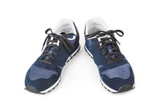 Blue sneakers Royalty Free Stock Image