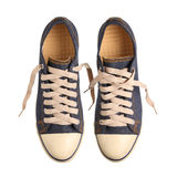 Blue sneakers. Isolated on white background Royalty Free Stock Photos