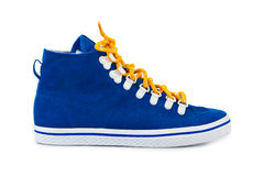 Blue sneakers Royalty Free Stock Photography