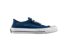 Blue sneakers isolated on white background Stock Photo