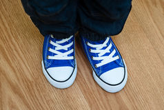 Blue sneakers Stock Photography