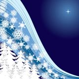 Blue Snow. Background for your greetings card,  illustration, see more at my portfolio, you can type your text Stock Image