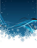 Blue snow Royalty Free Stock Photo