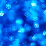 Blue snow background royalty free stock images