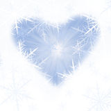 Blue snow background. With many snowflake Royalty Free Stock Photos