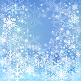 Blue snow background Royalty Free Stock Photos