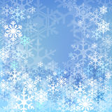 Blue snow background Royalty Free Stock Photography