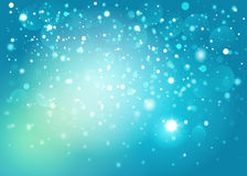 Blue snow bokeh background. Vector EPS 10. Blue snow bokeh background. Vector EPS10 Stock Photos
