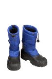 Blue Snow Boots Royalty Free Stock Photo