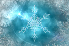 Blue snow flake pattern design Royalty Free Stock Photos