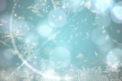 Blue snow flake pattern design Royalty Free Stock Photography