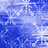 Blue snow flakes 02 Royalty Free Stock Photo