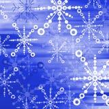 Blue snow flakes 02. Dark blue Christmas backdrop stock illustration