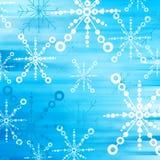 Blue snow flakes. Wonderful winter background vector illustration