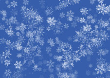 Blue Snow flakes Stock Photos