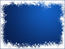 Blue snow frame Stock Images