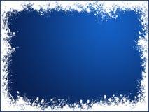 Blue snow frame. Bakcground of christmas Stock Images