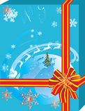 Blue snow gift Royalty Free Stock Photos
