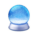 Blue snow globe Royalty Free Stock Photo