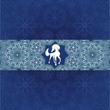 Blue snow pattern Stock Photos
