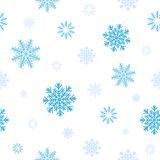 Blue snow pattern Stock Image