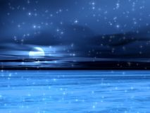 Blue snow picture royalty free illustration