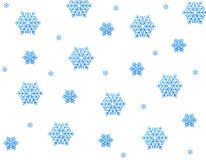 Blue snow stars. Gold stars isolated on white stock illustration
