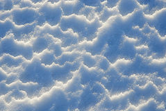 Blue snow texture. Stock Photo